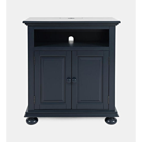 Jofran Stately Manor Power Accent Chest in  Navy Blue