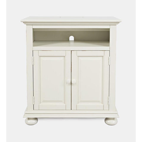 Jofran Stately Manor Power Accent Chest in Ant. White