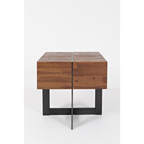 Jofran Studio 16 Floating End Table in Warm Brown