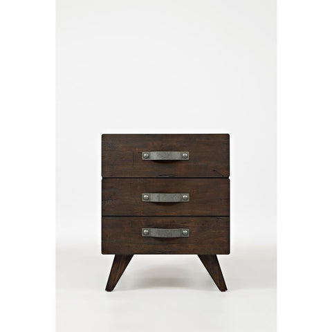 Jofran Sumatra Modern End Table in Rich Brown