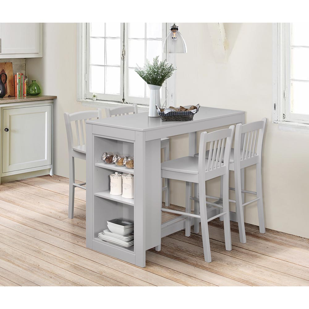 Jofran Tribeca Counter Height Dining Table W Shelving In