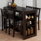 Jofran Tribeca Counter Height Dining Table w/Shelving in Merlot