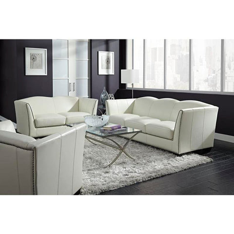 Lazzaro 3 Piece Marilyn Living Room Set in White