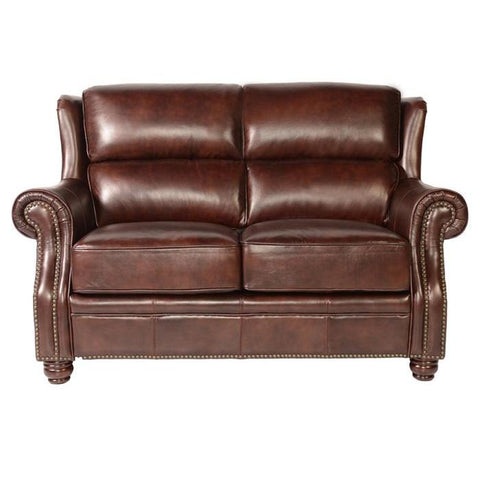 Lazzaro Appalachian Leather Loveseat in Rustic Savauge