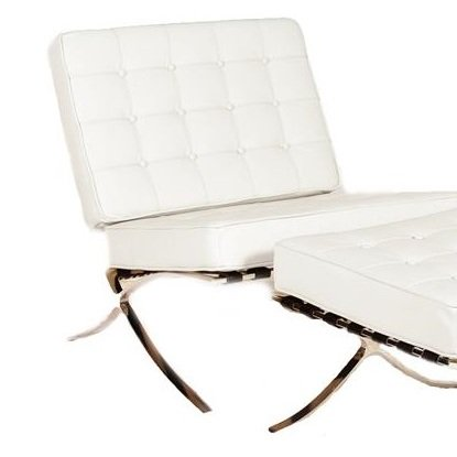 Lazzaro Beldon Armless Chair in White