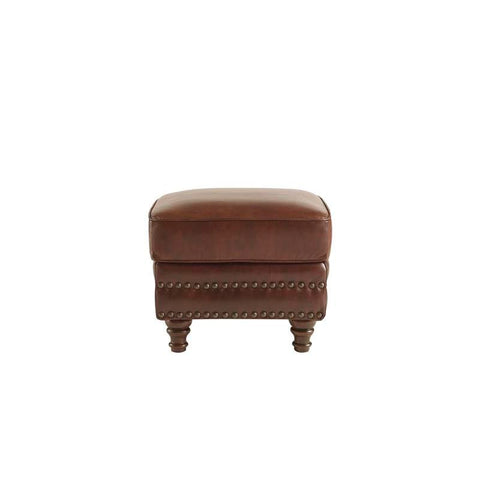 Lazzaro Bentley Ottoman in Rustic Sauvage