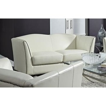 Lazzaro Marilyn Loveseat in White
