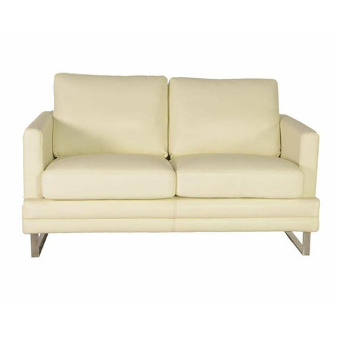 Lazzaro Melbourne Loveseat in White