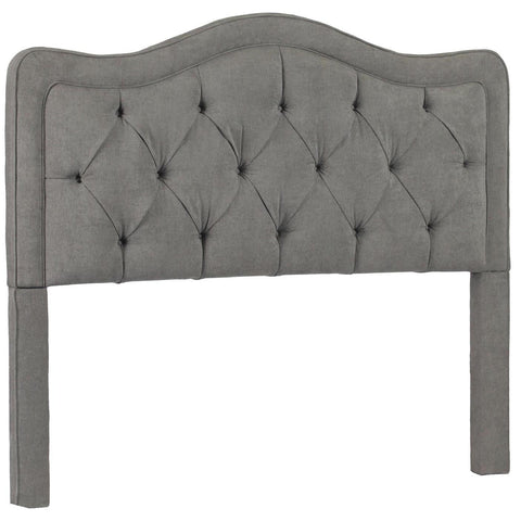 Leffler Allure Button Tufted Queen Headboard in Avigon Charcoal