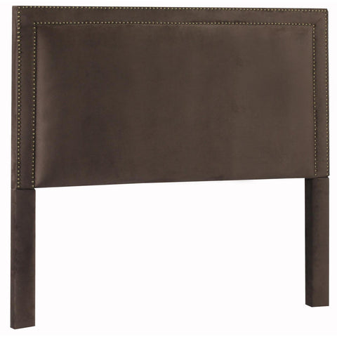 Leffler Brookside Nailhead Headboard in Night Party Chocolate