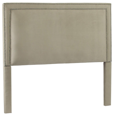 Leffler Brookside Nailhead Headboard in Portsmouth Stone