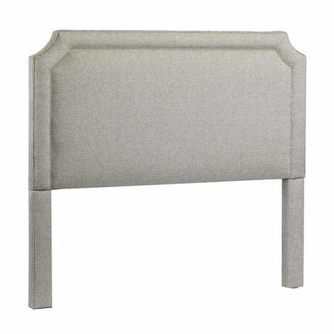 Leffler Manor Upholstered Belgrave Shape with Welting Headboard in Midori