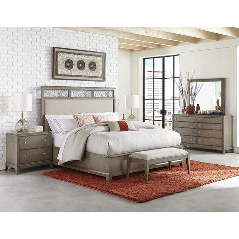 Legacy Apex Upholstered Platform Bed in Dusk