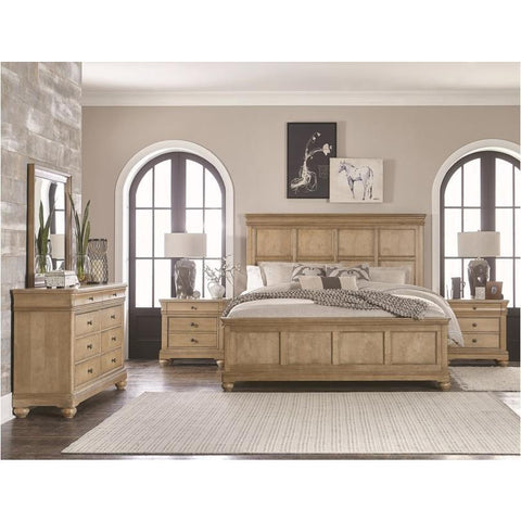 Legacy Ashby Woods 4 Piece Panel Bedroom Set in Aged Birch