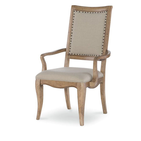 Legacy Ashby Woods Upholstered Back Arm Chair in Aged Birch