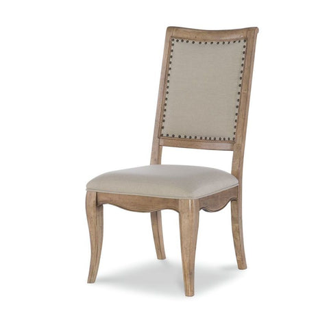 Legacy Ashby Woods Upholstered Back Side Chair in Aged Birch