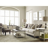 Legacy Brookhaven 4 Piece Coffee Table Set in Vintage Linen & Rustic Dark Elm