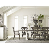 Legacy Brookhaven Extension Trestle Dining Table in Vintage Linen & Rustic Dark Elm