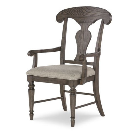 Legacy Brookhaven Splat Back Arm Chair in Rustic Dark Elm