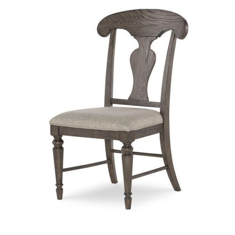 Legacy Brookhaven Splat Back Side Chair in Rustic Dark Elm