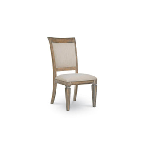 Legacy Brownstone Village Upholstered Back Side Chair In Aged Patina