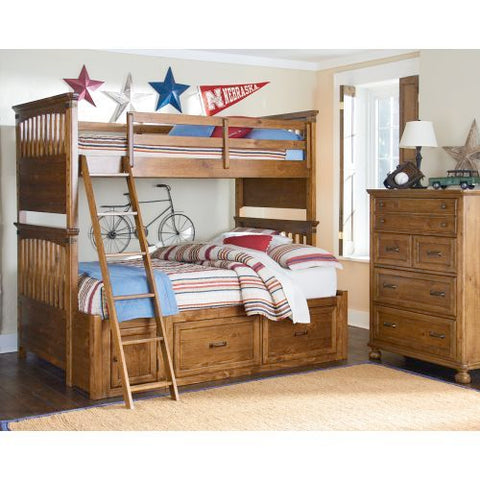 Legacy Bryce Canyon Bunk And Chest In Heirloom Pine