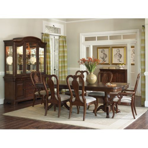 Legacy Evolution Leg Slat Dining Set In Rich Auburn