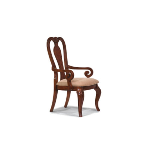 Legacy Evolution Queen Anne Arm Chair In Rich Auburn