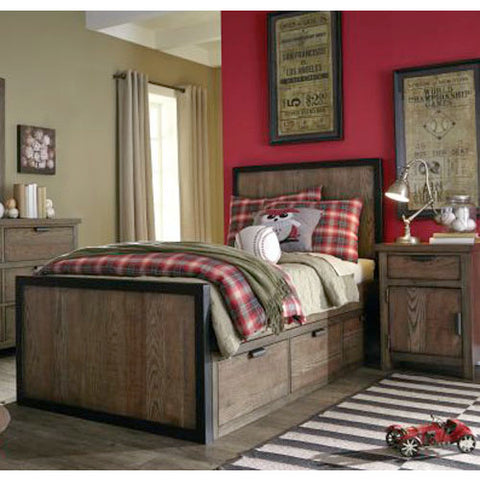 Legacy Fulton County 2 Piece Panel Bedroom Set in Tawny Brown