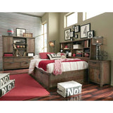 Legacy Fulton County Bookcase Lounge Bed in Tawny Brown