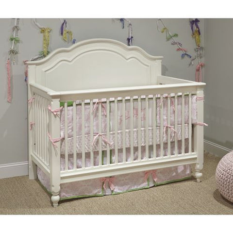 Legacy Harmony Grow With Me Convertible Crib In Antique Linen White