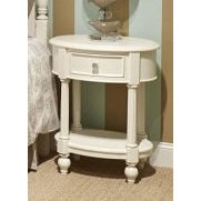 Legacy Harmony Oval Night Stand In Antique Linen White