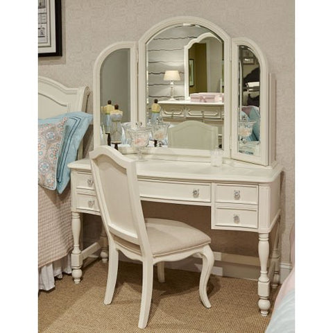 Legacy Harmony Vanity Mirror In Antique Linen White