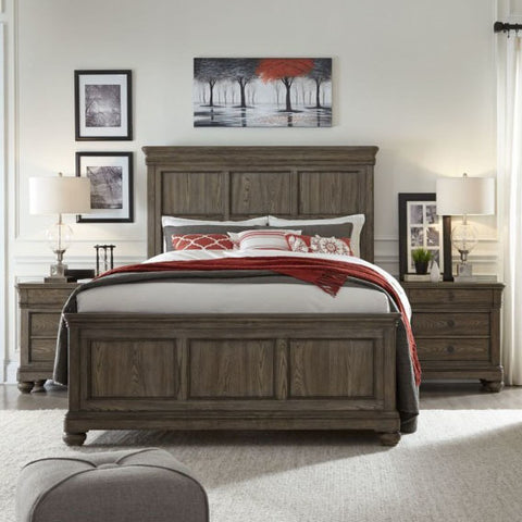 Legacy Hartland Hills 3 Piece Panel Bedroom Set in Weathered Elm
