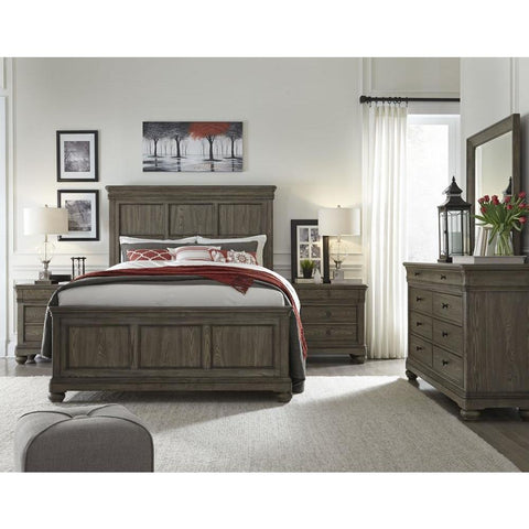 Legacy Hartland Hills Panel Bed in Weathered Elm
