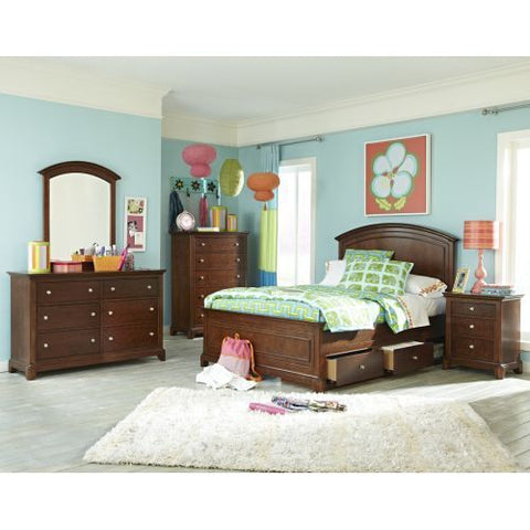 Legacy Impressions Five Piece Bedroom Set In Classic Clear Cherry