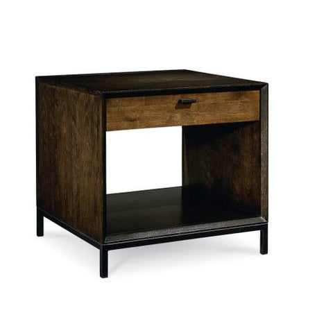 Legacy Kateri 1 Drawer/1 Shelf End Table in Rich Hazelnut