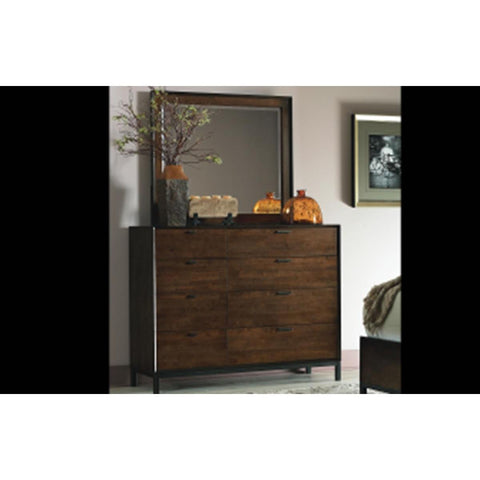 Legacy Kateri Bureau Mirror In Hazelnut And Ebony