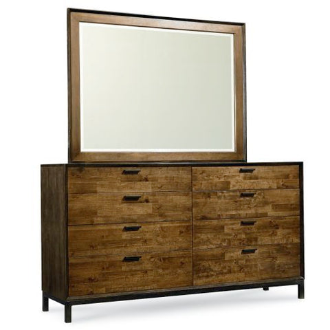 Legacy Kateri Dresser And Mirror In Hazelnut And Ebony