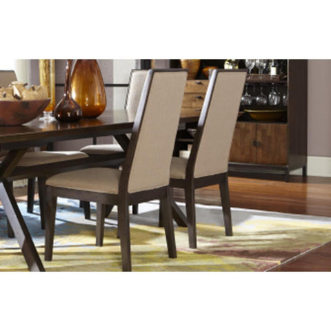 Legacy Kateri Upholstered Side Chair In Hazelnut And Ebony