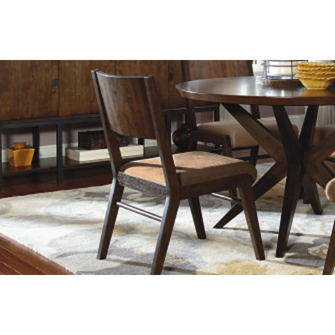 Legacy Kateri Wood Back Side Chair In Hazelnut And Ebony