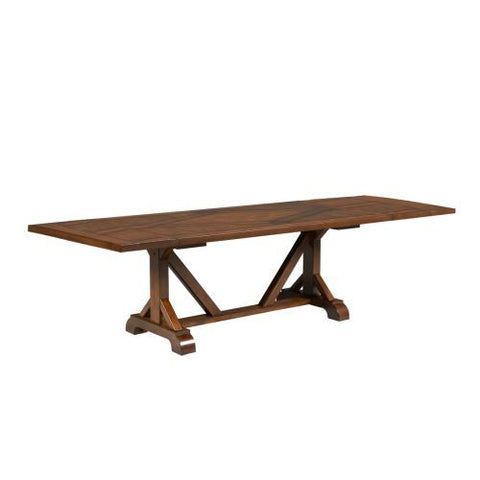 Legacy Larkspur Extension Trestle Dining Table in Burnished Caramel