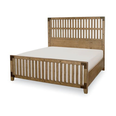 Legacy Metalworks Wood Gate Bed in Oak