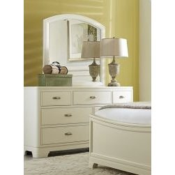 Legacy Park City Arched Dresser Mirror In White