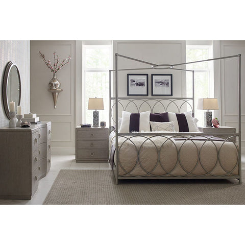 Legacy Rachael Ray Cinema 4 Piece Metal Canopy Bedroom Set