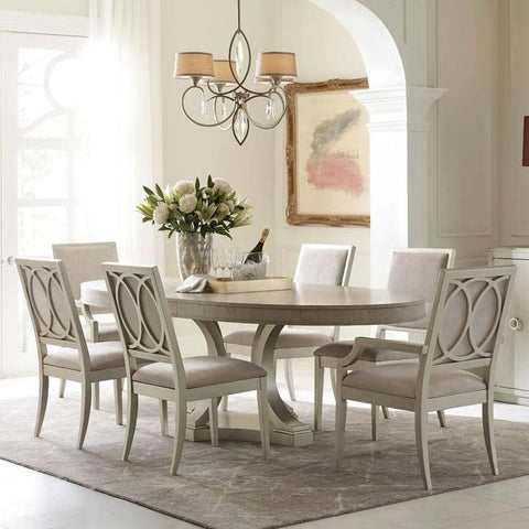 Legacy Rachael Ray Cinema 7 Piece Oval Dining Room Set in Shadow Grey