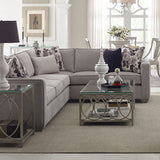 Legacy Rachael Ray Cinema 3 Piece Glass Top Coffee Table Set in Shadow Grey