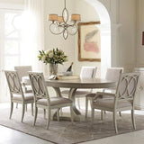 Legacy Rachael Ray Cinema 8 Piece Oval Dining Room Set in Shadow Grey