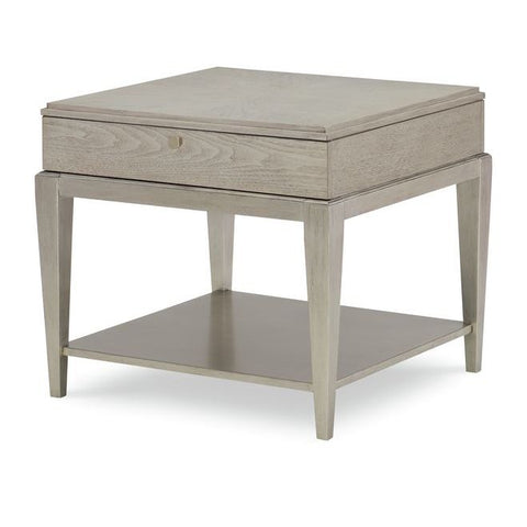 Legacy Rachael Ray Cinema Square End Table in Shadow Grey