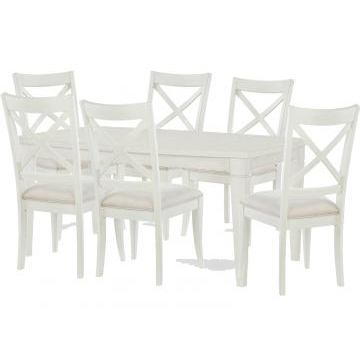 Legacy Rachael Ray Everyday 7 Piece Surfboard Leg Dining Room Set in Sea Salt